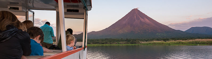 Sunset Catamaran Cruise on Lake Arenal